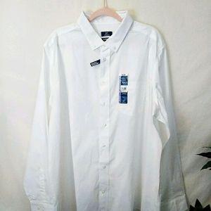 💐3/$15💐NEW MEN'S LONG SLEEVE DRESS SHIRTS SZ 3XL